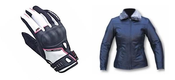 Gant et veste moto femme