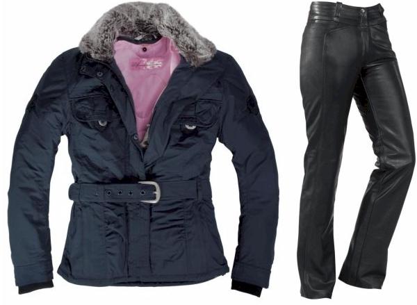 Veste et pentalon moto femme